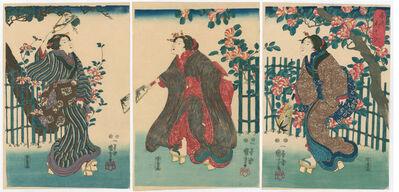 Utagawa Kuniyoshi, 'Three Beauties Playing Battledore ', 1847-1852