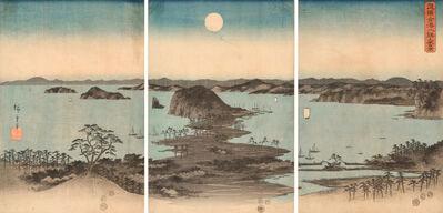 Utagawa Hiroshige (Andō Hiroshige), 'Night View of Eight Scenic Places in Kanazawa', 1857