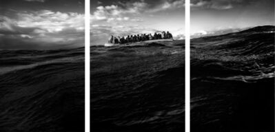 Robert Longo, 'Untitled (Raft at Sea)', 2017