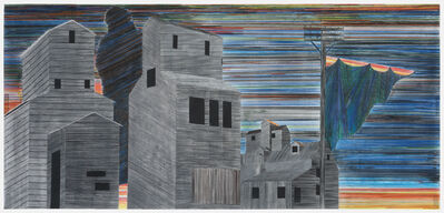 Siah Armajani, 'Sunset at Hiawatha Avenue', 2004