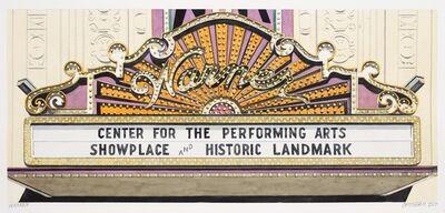 Robert Cottingham, 'Cottingham, Warner Center for the performing arts_aquarelle_R. 488.jpg', 2017