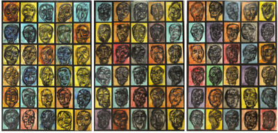 Rigo (José Rigoberto Rodriguez Camacho), 'Study of 90 Heads', ca. 2017