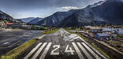 Christian Voigt, 'Lukla Airport', 2017