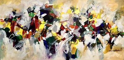 Mashkoor Raza, 'Abstract composition ', 2019