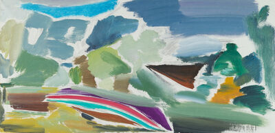 Ivon Hitchens, 'Careened Boat Study', 1972