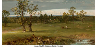 John Frederick Kensett, 'At Pasture', circa 1844-1845