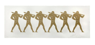 Cleon Peterson, 'The Marchers (White)', 2016