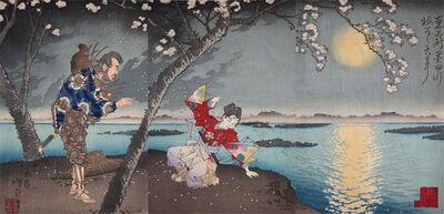 Tsukioka Yoshitoshi, 'Tale of Umewaka at Sumida River', 1883