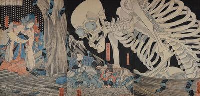 Utagawa Kuniyoshi, 'Takiyasha and Skeleton Spectre in the Ruined Palace at Soma', ca. 1844