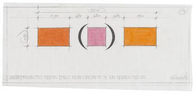 Horacio Zabala, 'Anteproyecto para tres monocromos y un paréntesis', 2016