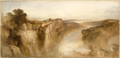 John Martin (1789-1854), 'View on the River Wye, Looking towards Chepstow', 1844