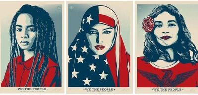 Shepard Fairey, 'We the People (set of 3)', 2017
