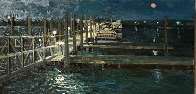 Irina Rybakova, 'Water Taxi in Sag Harbor', 2018