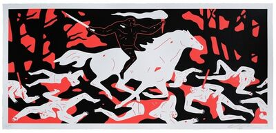 Cleon Peterson, 'Victory (Red)', 2017