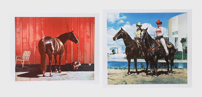 Richard McLean, 'Kahlua Lark and Diamond Tinker & Jet Tex (two works)', ca. 1980