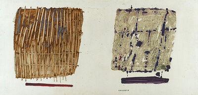 Pietro Consagra, 'Fondo bianco (due immagini)', 1964