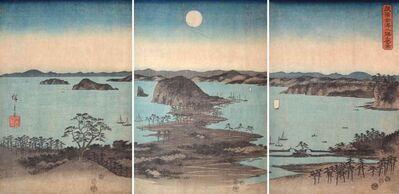 Utagawa Hiroshige (Andō Hiroshige), 'The Eight Views of Kanazawa Bay in Moonlight', 1857
