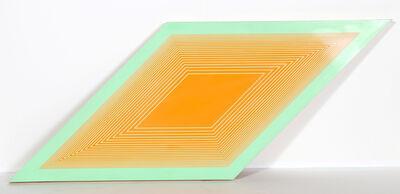 Richard Anuszkiewicz, 'Orange on Green Rhombus from Volumes Variable Multiple', 1969