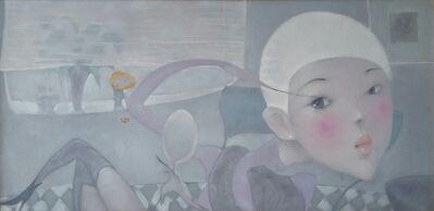 "Nguyen Van Cuong, '""Saturday Night"" Oil on Canvas Painting Grey Purple Pink', 2016"