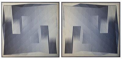 "Edwin Mieczkowski, 'Diptych (""ISO-SINISTRAD"" ""ISO-DEXTRAD"")', ca. 1965"