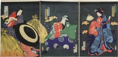 Utagawa Kunisada II, 'Actors Bando Hikosaburo and Kawarazaki Gonjuro I', 1867