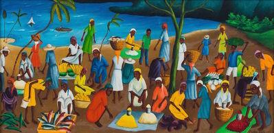 Castera Bazile, 'Haitian Market by Sea, 1963'
