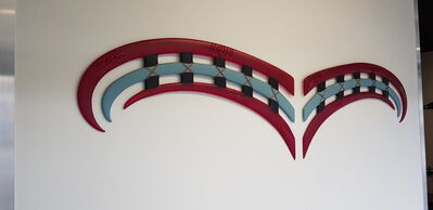 Kahu Design, 'te manu o rehua (red & pale blue wings)', 2010