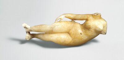 Unknown Parthian, 'Figure of a reclining woman', ca. 2nd century B.C.–2nd century A.D.
