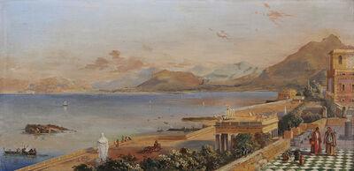 Italian School, 'A Capriccio of a Mediterranean Coastal Landscape', 1875