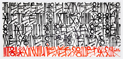 RETNA, 'The Bottom Line Is Red', 2011