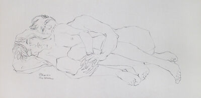 Bruno Bobak, 'Untitled (Couple Reclining)', ca. 1970-1980
