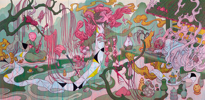 James Jean, 'Aviary - Red Fire', 2019