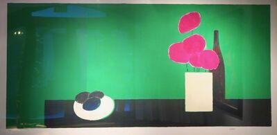 Bernard Cathelin, 'Grande nature morte aux hortensias et avocats (état vert)', 1990