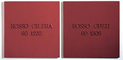 Alighiero Boetti, 'Rosso Gilera 60 1232 – Rosso Guzzi 60 1305', 1967-1971
