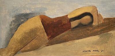 Herman Maril, 'Horizontal Nude', 1931