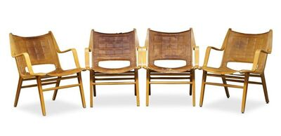Peter Hvidt and Orla Mølgaard-Nielsen, 'a set of four 'AX' chairs for Fritz Hansen', c.1950s