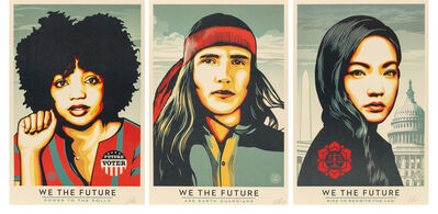 Shepard Fairey, 'We The Future (SIGNED set of 3)', 2018
