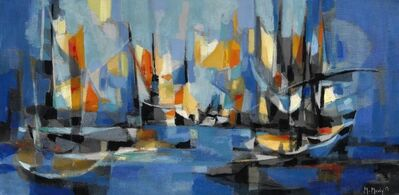 Marcel Mouly, 'Port de pêches breton, Paris', 1959