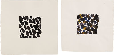 Jacqueline Humphries, 'Untitled; and Untitled', 1990
