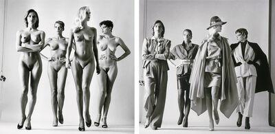 Helmut Newton, 'Sie Kommen (Pair/Signed)', 1981