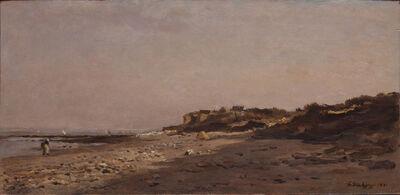 Charles François Daubigny, 'La Plage de Villerville', 1871