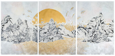 """Crystal Liu, 'the moon and the tides, """"settling in""""', 2017"""