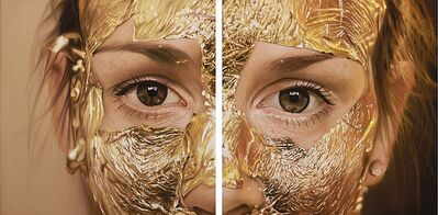 Oliver Jones, 'Untitled (Gold leaf face mask) Diptych', 2015