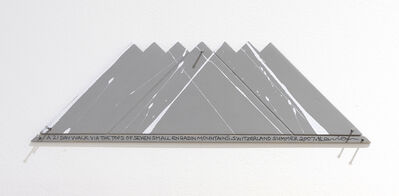 Hamish Fulton, 'A 21 Day Walk Via The Tops Of Seven Small Engadin Mountains, Switzerland, Summer 2007', 2007