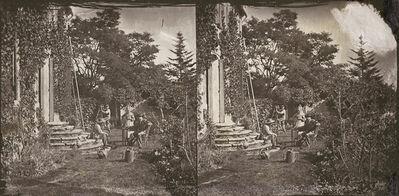 Baron Louis-Adolphe Humbert de Molard, 'Garden Scene', 1850c/1850c