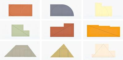 Robert Mangold (b.1937), 'Multiple Panel Paintings 1973-1976, Edition B (S. 12.01-12.09B, S. & S. 1977.02)', 1988