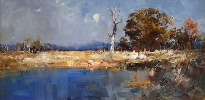 Ken Knight, 'Waterhole and Sheep'
