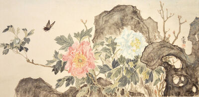 Wang Qian, 'Butterfly and Peonies', 2013 -2014