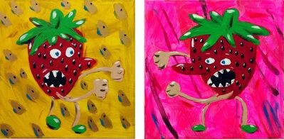 Elad Rosen, 'Fighting Strawberry, Diptych', 2017
