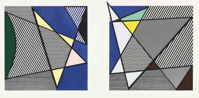 Roy Lichtenstein, 'Imperfect Diptych 46 1/4'' x 91 3/8'', from: Imperfect Series', 1988